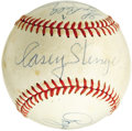 Autographs:Baseballs, 1962 New York Mets Partial Team Signed Baseball. With the major tough/deceased figures present and accounted for, a dedicat...