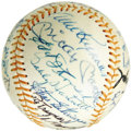 Autographs:Baseballs, Circa 1971 Hall of Famers Multi-Signed Baseball from the Zack WheatFamily Estate. Straight from the hallowed Hall at Coope...