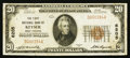 National Bank Notes:West Virginia, Keyser, WV - $20 1929 Ty. 1 The First NB Ch. # 6205. ...