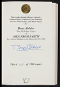 """Autographs:Others, Buzz Aldrin Limited Edition """"Men From Earth"""" Signed Book..."""