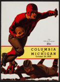 Football Collectibles:Programs, 1936 Michigan Vs. Columbia Football Program - Wolverines' Only Win of '36. ...
