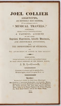 """Books:Music & Sheet Music, [Music]. Joel Collier Redivivus, An Entirely New Edition, Of that celebrated Author's """"Musical Travels""""... London: J..."""