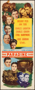 """Movie Posters:Hitchcock, The Paradine Case (Selznick, 1948). Insert (14"""" X 36""""). Hitchcock....."""