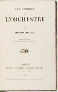 Books:Music & Sheet Music, [Music]. Hector Berlioz. Les Soirees de L'Orchestre. Paris: Michel Levy Freres, 1854. Later leather over marbled...