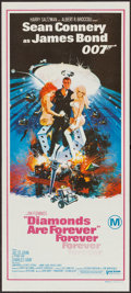 "Movie Posters:James Bond, Diamonds are Forever (United Artists, 1971). Australian Daybill(13"" X 30""). James Bond.. ..."
