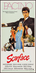 """Movie Posters:Crime, Scarface (Universal, 1983). Australian Daybill (13"""" X 30""""). Crime....."""