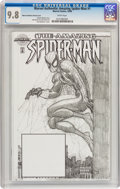 Modern Age (1980-Present):Superhero, Marvel Authentix: Amazing Spider-Man #1 Marvel Authentix SketchCover (Marvel, 1998) CGC NM/MT 9.8 White pages....