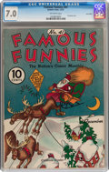 Platinum Age (1897-1937):Miscellaneous, Famous Funnies #41 Lost Valley pedigree (Eastern Color, 1937) CGCFN/VF 7.0 Off-white pages....