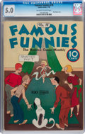 Platinum Age (1897-1937):Miscellaneous, Famous Funnies #18 (Eastern Color, 1936) CGC VG/FN 5.0 Off-white towhite pages....