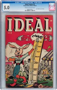 Ideal Comics #2 (Timely, 1944) CGC VG/FN 5.0 Cream to off-white pages