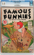 Platinum Age (1897-1937):Miscellaneous, Famous Funnies #25 (Eastern Color, 1936) CGC GD/VG 3.0 Cream tooff-white pages....