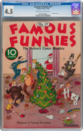 Platinum Age (1897-1937):Miscellaneous, Famous Funnies #17 (Eastern Color, 1935) CGC VG+ 4.5 Off-white towhite pages....