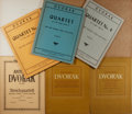 Books:Music & Sheet Music, [Music]. Antonin Dvorak. Nine Music Scores for String Quartets. Various publishers. Publisher's wrappers. Housed together in...
