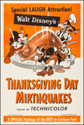 "Movie Posters:Animation, Thanksgiving Day Mirthquakes (RKO, R-1953). One Sheet (27"" X 41"").Animation.. ..."