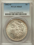 1882-O $1 MS65 PCGS. PCGS Population (744/28). NGC Census: (481/13). Mintage: 6,090,000. Numismedia Wsl. Price for probl...