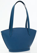 Luxury Accessories:Bags, Louis Vuitton Blue Epi Leather Saint Jacques PM Shoulder Bag. ...