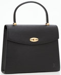 Luxury Accessories:Bags, Louis Vuitton Black Epi Leather Malesherbes Top Handle Bag. ...