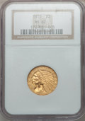 Indian Half Eagles: , 1910 $5 MS62 NGC. NGC Census: (2095/1314). PCGS Population(1476/847). Mintage: 604,250. Numismedia Wsl. Price for problem ...