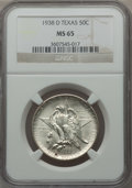 Commemorative Silver: , 1938-D 50C Texas MS65 NGC. NGC Census: (273/395). PCGS Population(476/363). Mintage: 3,775. Numismedia Wsl. Price for prob...