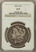 Morgan Dollars: , 1893-S $1 VG8 NGC. NGC Census: (226/1689). PCGS Population(451/3662). Mintage: 100,000. Numismedia Wsl. Price for problem ...