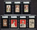 Baseball Cards:Lots, 1909-1922 Vintage baseball Card SGC Graded Group (7). ...