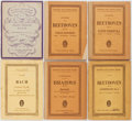 Books:Music & Sheet Music, [Music]. Bach, Beethoven, and Brahms. Six Scores. Five published by Eulenberg of Leipzig. Publisher's wrappers. Good or bett... (Total: 6 Items)