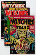 Golden Age (1938-1955):Horror, Witches Tales Group (Harvey, 1951-54) Condition: Average GD+....(Total: 5 Comic Books)