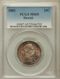 Coins of Hawaii: , 1883 25C Hawaii Quarter MS65 PCGS. PCGS Population (158/109). NGCCensus: (148/135). Mintage: 500,000. ...