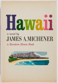 Books:First Editions, James Michener. Hawaii. Random House, 1959. First edition,first printing. Publisher's cloth and dust jacket...