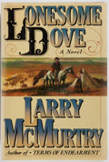 Books:Fiction, Larry McMurtry. Lonesome Dove. Simon and Schuster, 1985.First edition. Publisher's cloth and dust jacket with l...