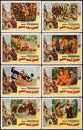 "Movie Posters:Adventure, Jungle Man-Eaters (Columbia, 1954). Lobby Card Set of 8 (11"" X14""). Adventure.. ... (Total: 8 Items)"