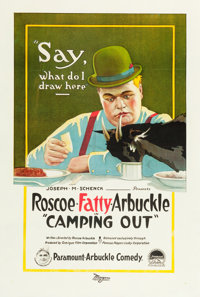 """Camping Out (Paramount, 1919). One Sheet (27"""" X 41"""")"""