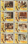 """Movie Posters:Adventure, Slaves of Babylon (Columbia, 1953). Lobby Card Set of 8 (11"""" X14""""). Adventure.. ... (Total: 8 Items)"""