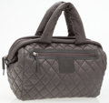 Luxury Accessories:Bags, Chanel Limited Edition Gray Quilted Nylon Coco Cocoon Bowler Bag....