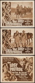 """Movie Posters:War, The Lost Patrol (RKO, R-1949). Title Lobby Card and Lobby Cards (2)(11"""" X 14""""). War.. ... (Total: 3 Items)"""