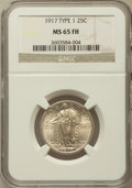 Standing Liberty Quarters, 1917 25C Type One MS65 Full Head NGC....