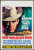 "Movie Posters:Thriller, Bad Day at Black Rock (MGM, R-1960s). Belgian (14"" X 21.25""). Thriller.. ..."