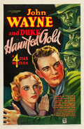 "Movie Posters:Western, Haunted Gold (Warner Brothers - First National, 1932). One Sheet(27"" X 41"").. ..."