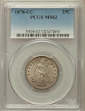 Seated Quarters, 1878-CC 25C MS62 PCGS....