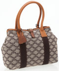 Luxury Accessories:Bags, Celine Classic Monogram Canvas Shopper Bag with Brown LeatherAccents. ...