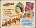 "Movie Posters:Documentary, A Queen is Crowned (Universal, 1953). Title Lobby Card (11"" X 14""). Documentary.. ..."
