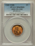 Lincoln Cents, 1909 VDB 1C Double Die Obverse FS-1102 MS65 Red PCGS. (FS-012.1).PCGS Population (25/13). ...