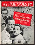 """Movie Posters:Academy Award Winners, Casablanca (Warner Brothers, 1942). Canadian Sheet Music (8 Pages, 9"""" X 12"""") """"As Time Goes By."""" Academy Award Winners.. ..."""