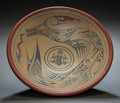 American Indian Art:Pottery, A SANTA CLARA POLYCHROME PLATE. Margaret and Luther Gutierrez. c.1970...