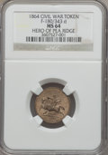 Civil War Patriotics, 1864 Hero of Pea Ridge MS64 NGC. Fuld-180/343d. . ...