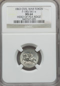 Civil War Patriotics, 1863 Hero of Pea Ridge MS64 NGC. Fuld-180/341e....