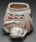 American Indian Art:Pottery, A CASAS GRANDE BLACK-ON-BUFF HUMAN EFFIGY VESSEL. c. 1200 - 1450...