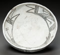 American Indian Art:Pottery, A JEMEZ BLACK-ON-WHITE BOWL. c. 1700...
