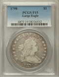 Early Dollars, 1798 $1 Large Eagle, Pointed 9 Fine 15 PCGS. B-14, BB-122, R.3....