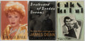 Books:Biography & Memoir, [American cinema]. Three books about James Dean, Lucille Ball, andClark Gable. Various publishers and dates. All have publi...(Total: 3 Items)